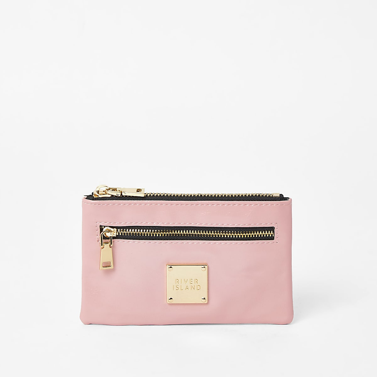 Pink RI zip pocket mini pouch