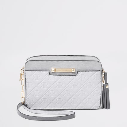 Grey RI monogram cross body