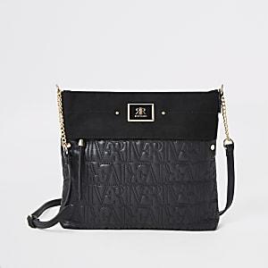 Zwarte messengertas met RI-stiksel