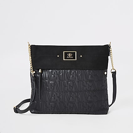 Black RI stitch messenger