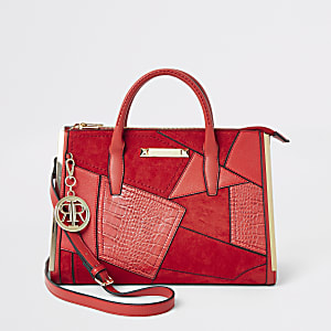 Red cutabout large tote bag