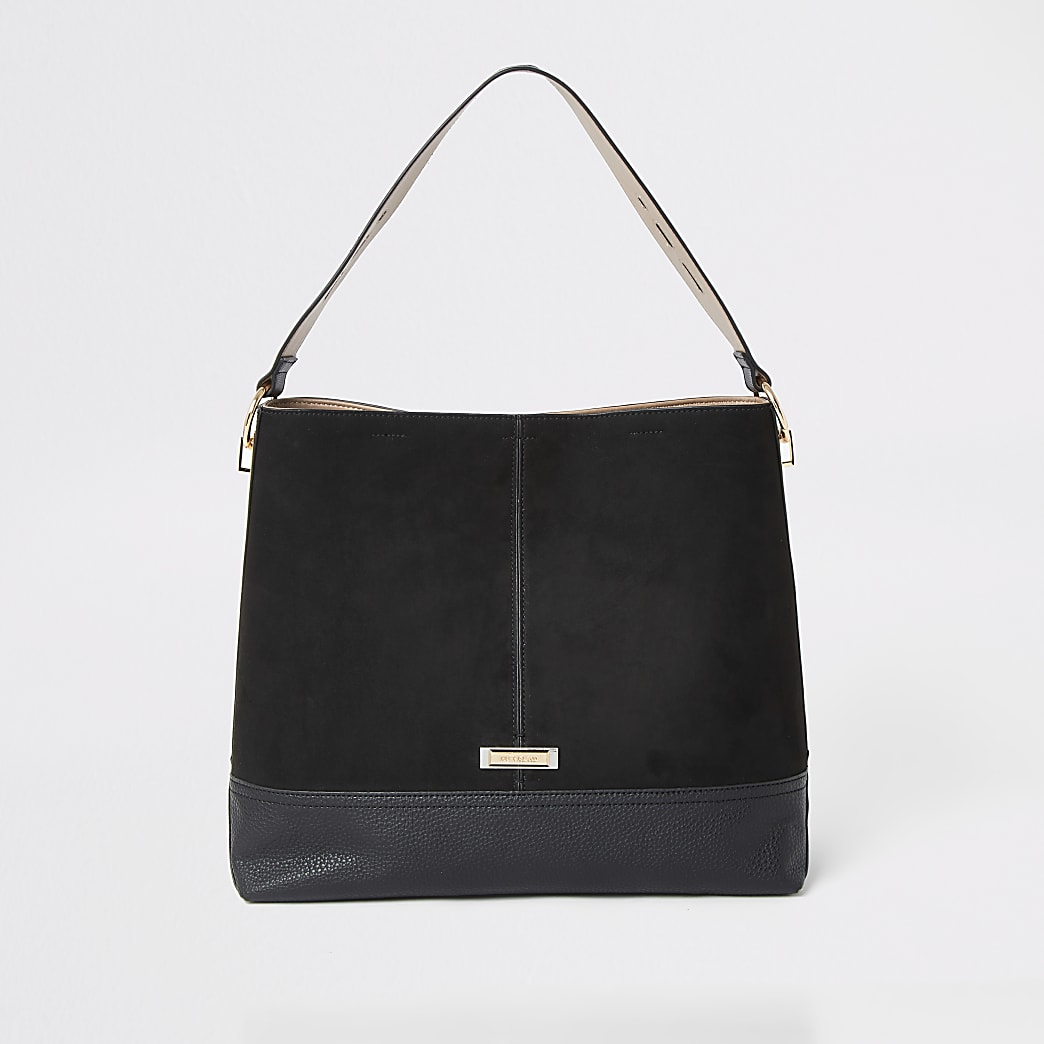 free shipping good service good looking Black slouch bag | River Island