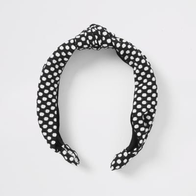 Black Spot Headband by River Island