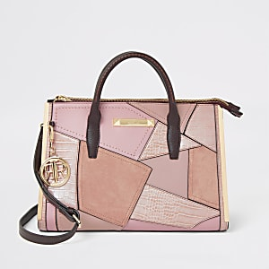 Pink large cutabout tote bag