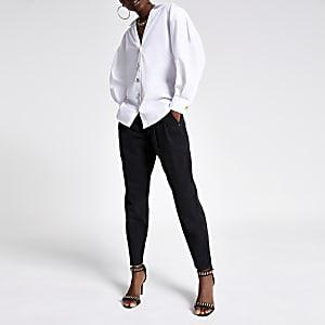 Chemise blanche à manches bouffantes