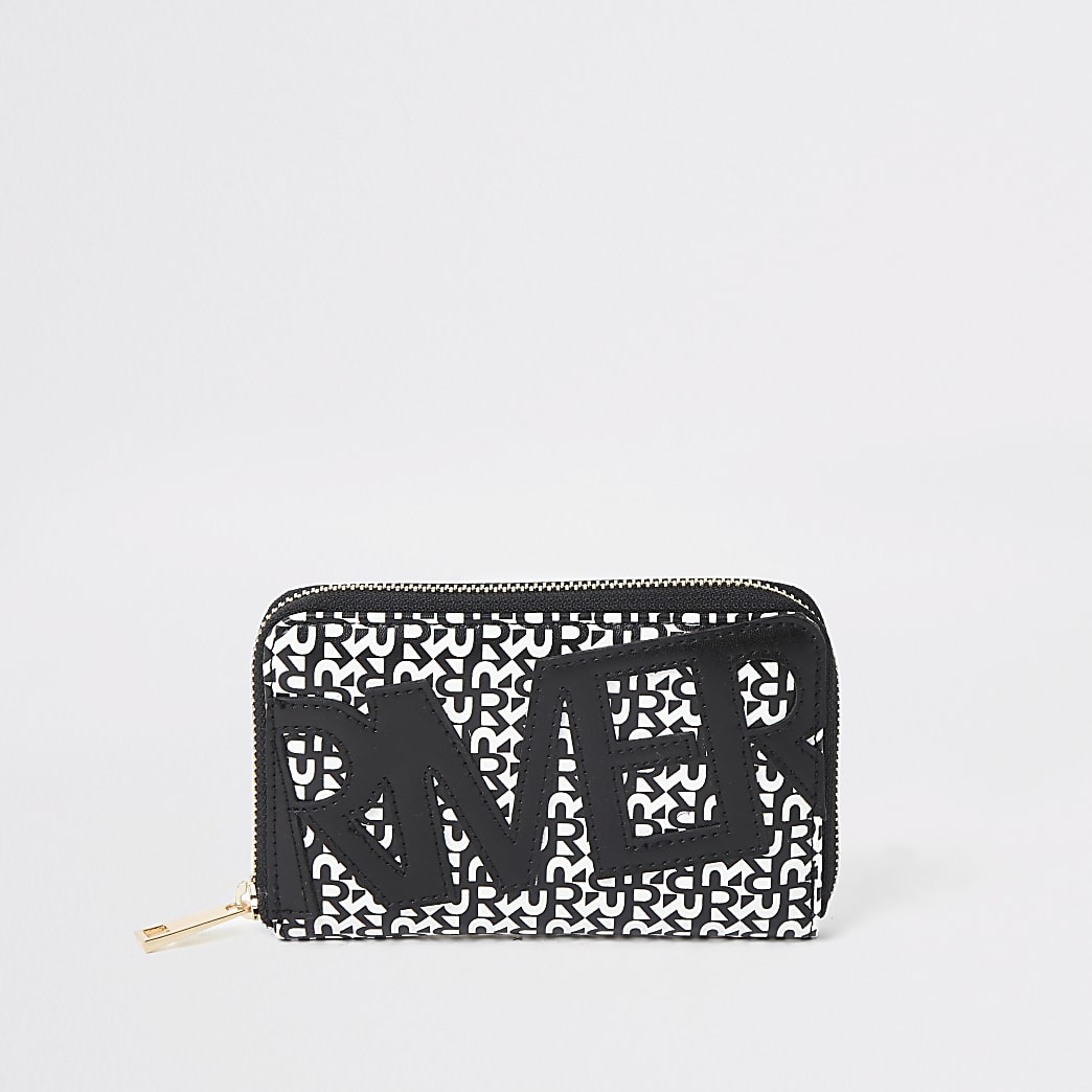 Black River print zip around purse