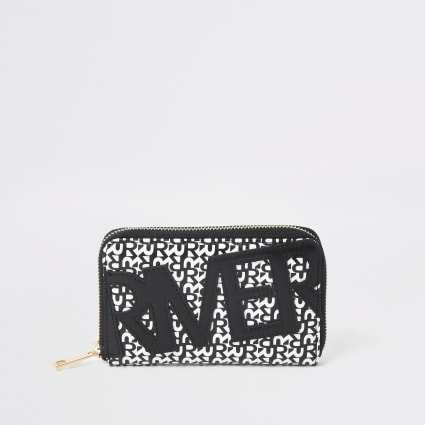 Black River print zip around purse