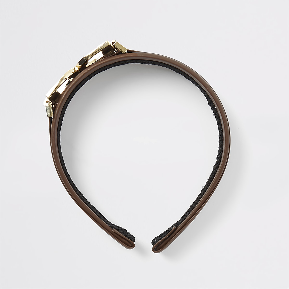 Brown D ring headband