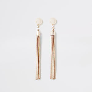 5c6ae5427 Rose gold colour slinky chain drop earrings