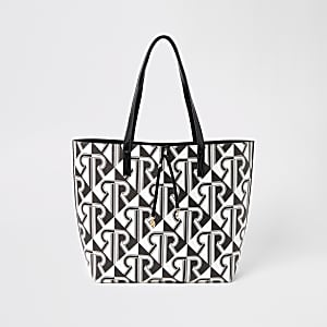 Mono RI monogram print shopper tote bag