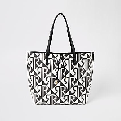Mono RI monogram print shopper tote bag