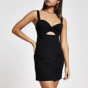 Mini robe moulante noire