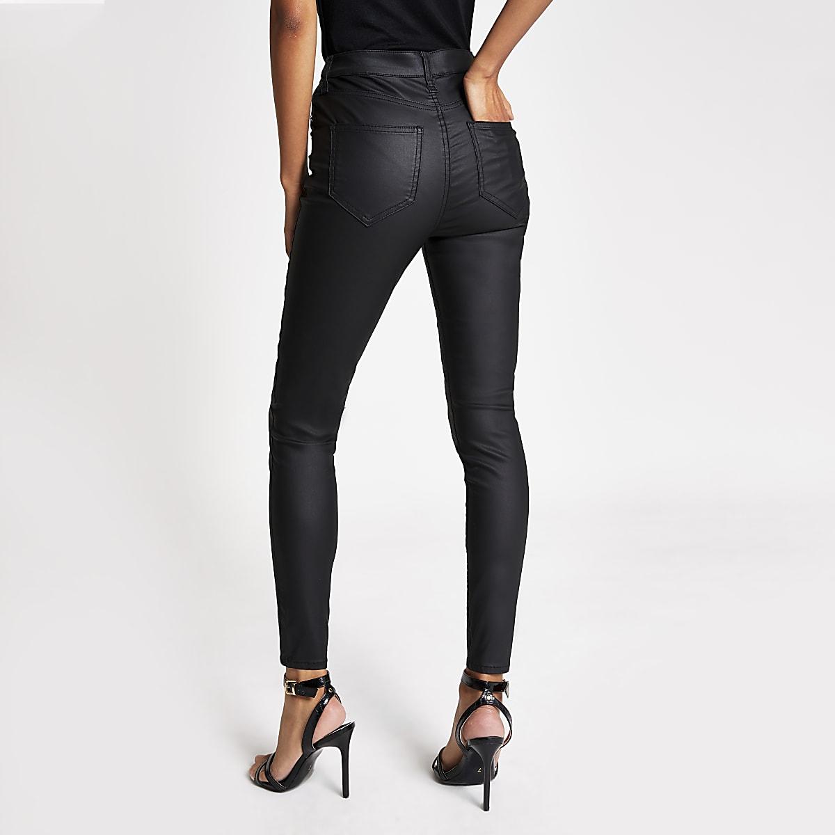 Veröffentlichungsdatum ausgereifte Technologien moderate Kosten Black coated Hailey button front jeans