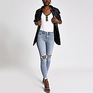 Denim Molly mid rise ripped jegging