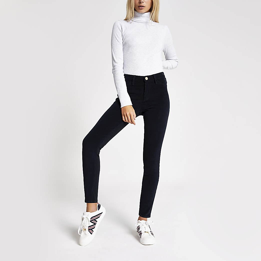 Navy cord Molly jeggings