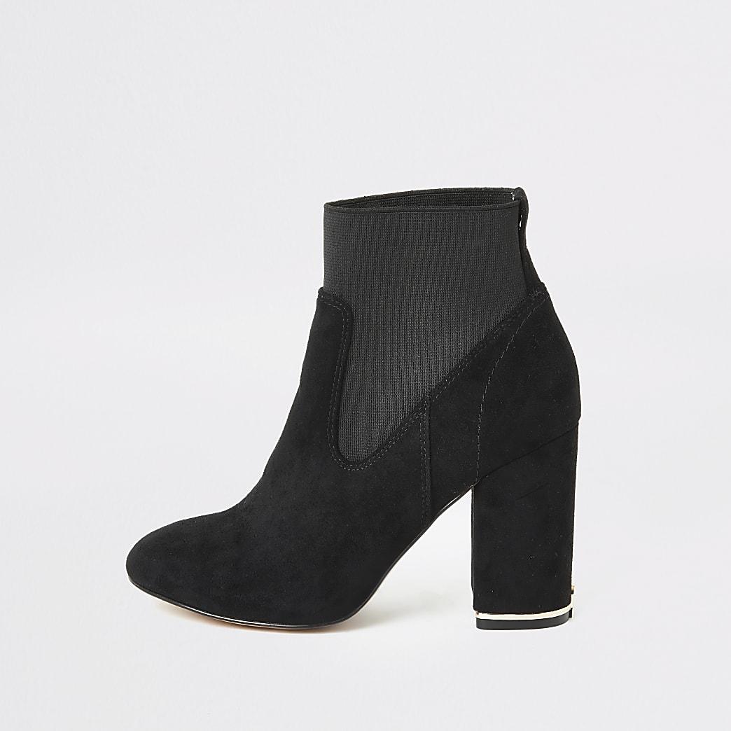 Bottes chaussettes en suédine noire