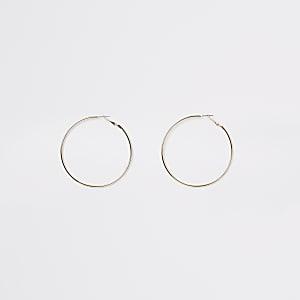 Goudkleurige ronde oorringen