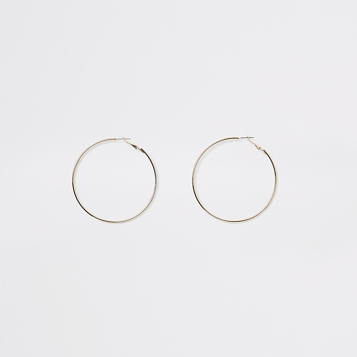 Gold colour round hoop earrings