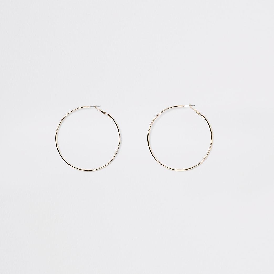Créoles rondes dorées