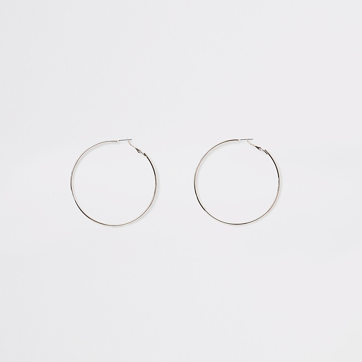 Rose gold colour hoop earrings