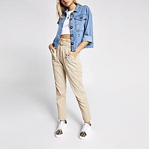 Kurze Hemdjacke aus Jeansstoff