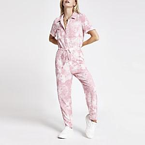 RI Petite -  Roze tie-dye jumpsuit