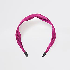 Pinkes Satin-Haarband