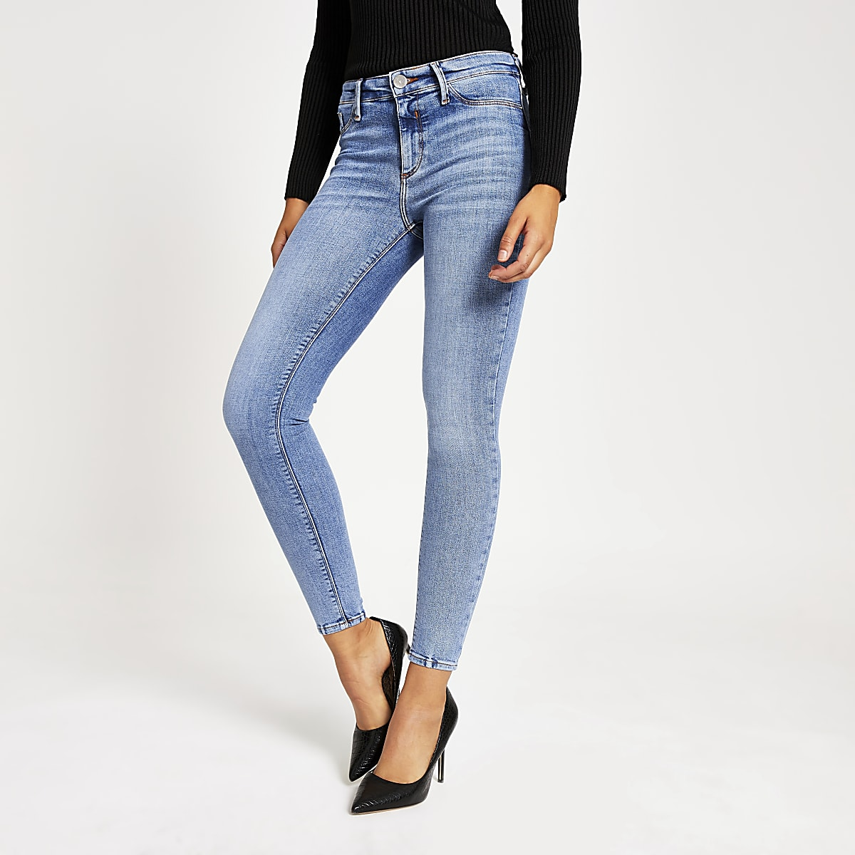 Blue Molly mid rise jeggings