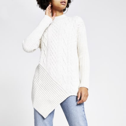 Cream cable knit turtle neck jumper