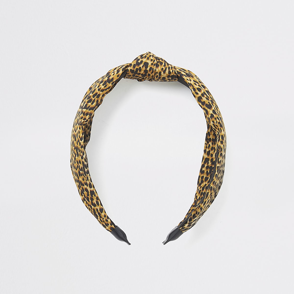 Brown leopard print knot headband