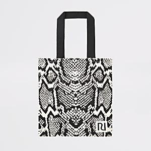 Beigefarbene RI Tasche für´s Leben mit Animal-Print