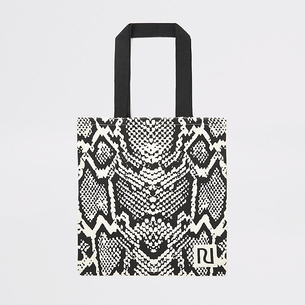 Beige animal print RI bag for life