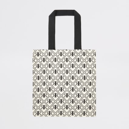 Black RI monogram print bag for life