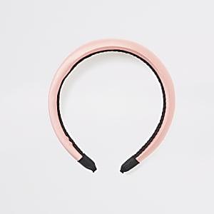 Roze satijnen hoofdband