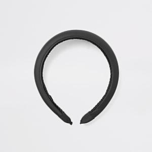 Schwarzes Satin-Haarband