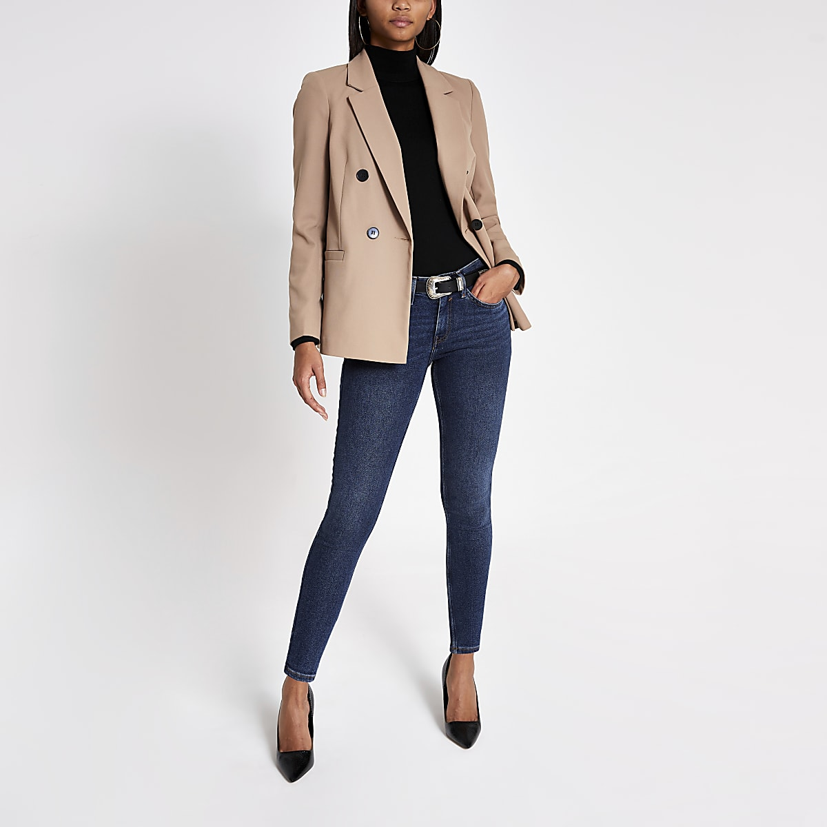 Dark blue Amelie super skinny jeans