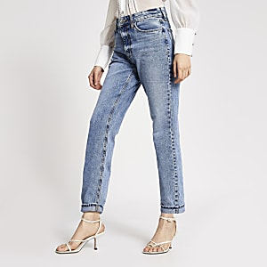Mom – Jean taille haute bleu