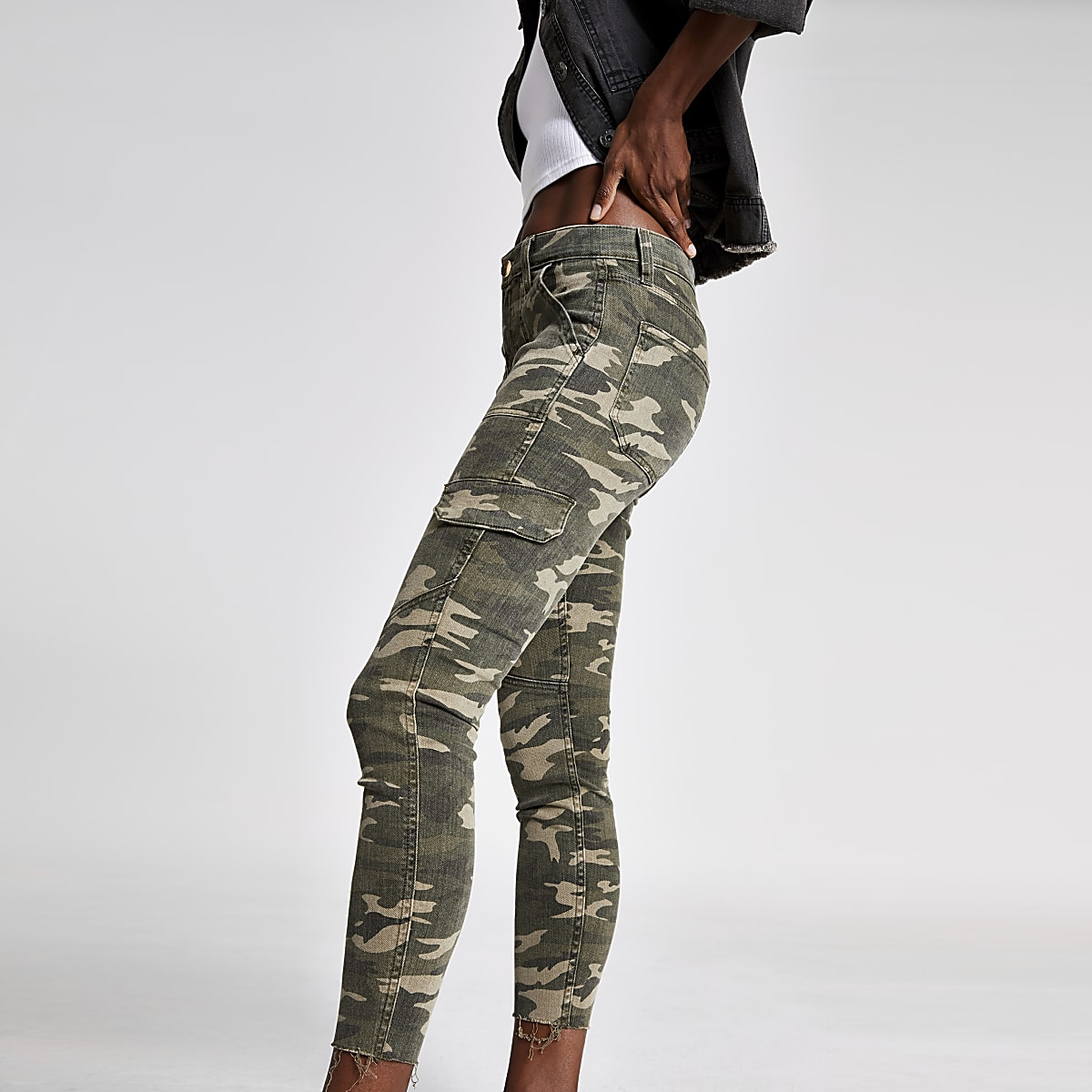 Amelie – Jean super skinny camouflage kaki