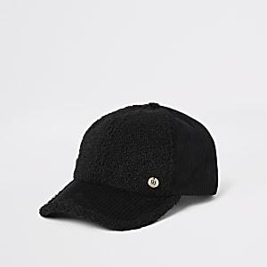 Schwarze Cordmütze