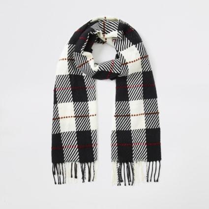 Monochrome check scarf