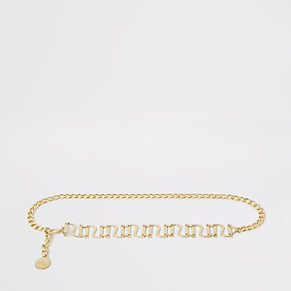 Gold colour RI chain belt
