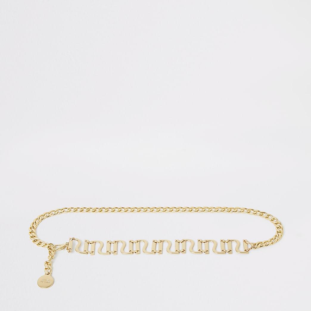Gold colour RI chain belt