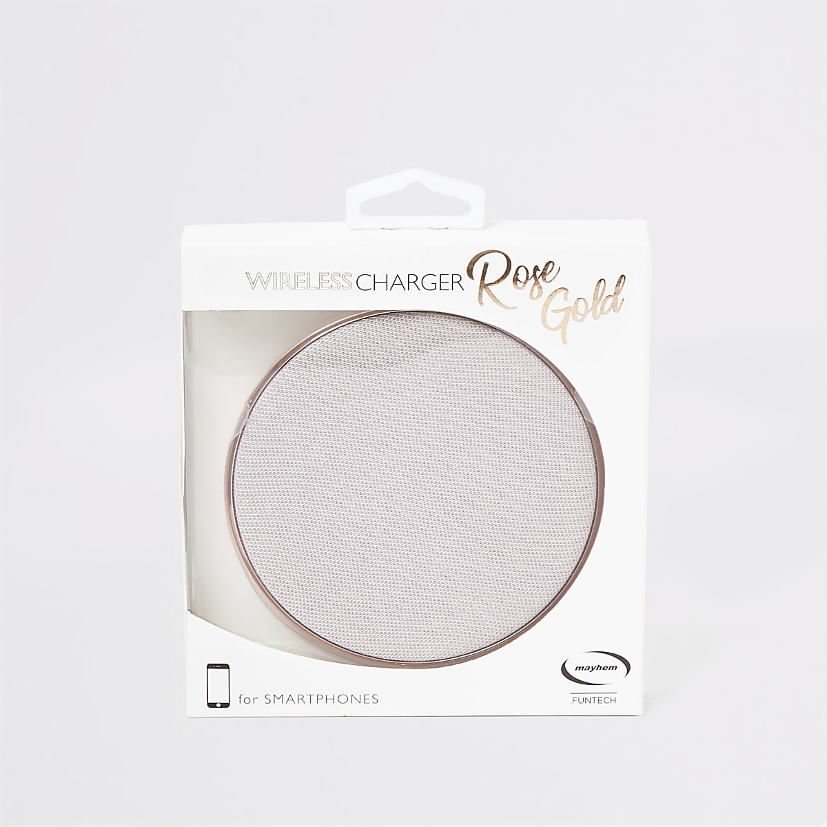 Mayhem rose gold wireless charging pad