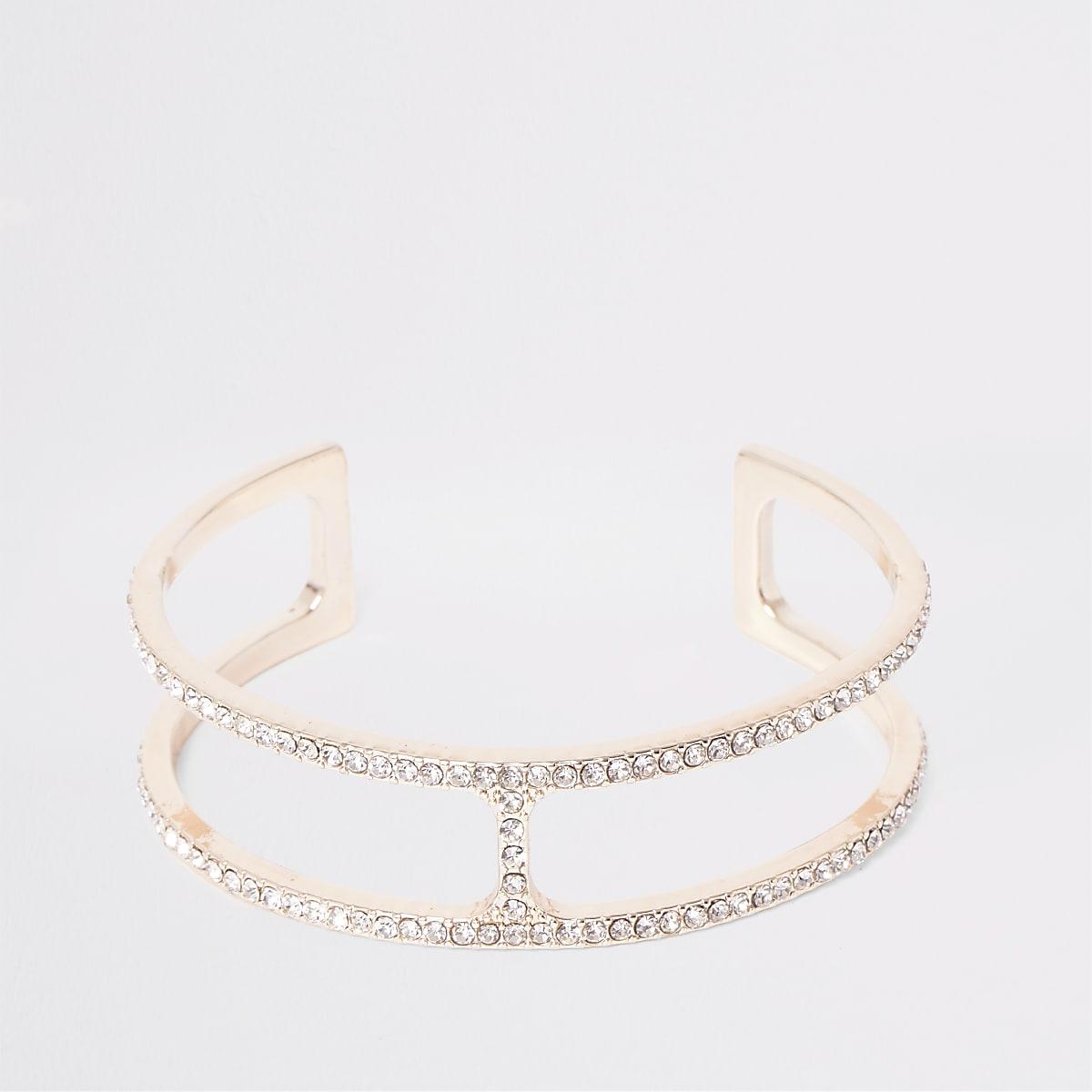 Roségouden brede armband