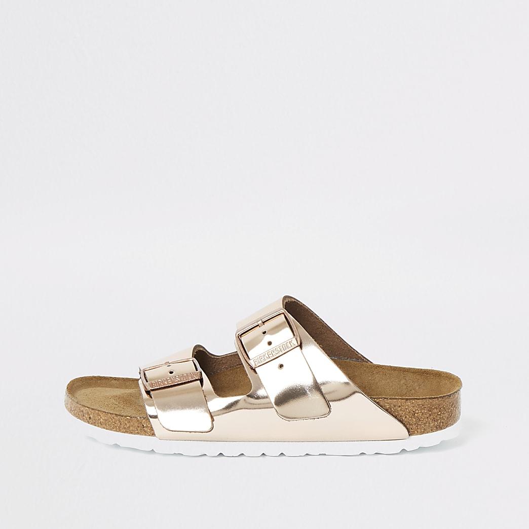 Birkenstock Arizona rose gold sandals