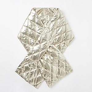 Gesteppter Schal in Gold-Metallic