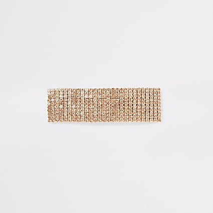 Rose gold colour diamante hair clip
