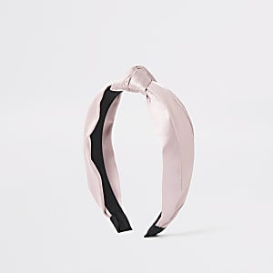 Pinkes Haarband aus Mischgewebe