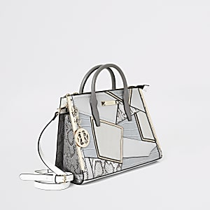 Grey large cutabout tote bag