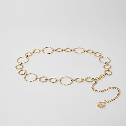 Gold circle chain waistbelt